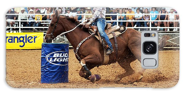 Prca Galaxy Case - American Rodeo Female Barrel Racer White Blaze Chestnut Horse I by Sally Rockefeller