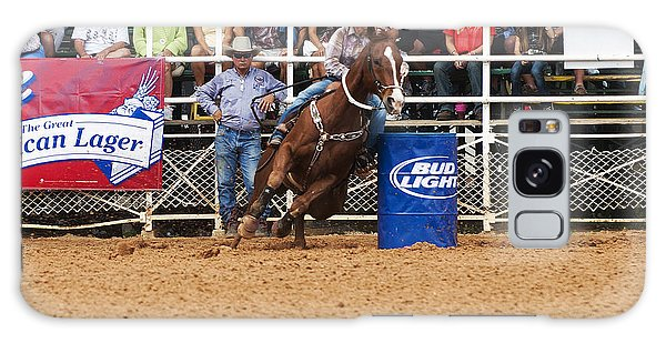 Prca Galaxy Case - American Rodeo Female Barrel Racer White Blaze Chestnut Horse Iv by Sally Rockefeller