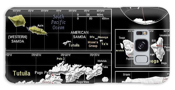 American Samoa Exotic Map Galaxy Case
