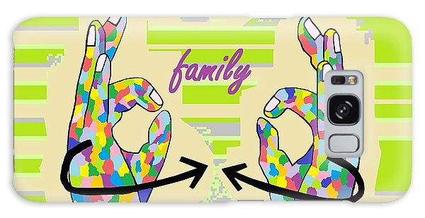 American Sign Language Family                                                    Galaxy Case