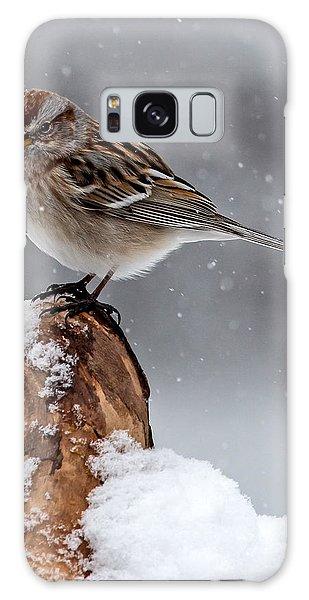 American Tree Sparrow In Snow Galaxy Case