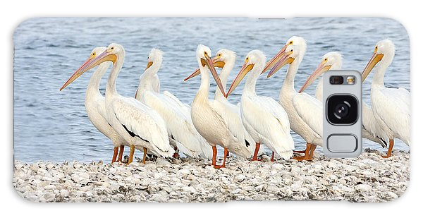 American White Pelicans Galaxy Case