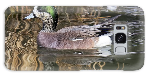 American Wigeon Reflections Galaxy Case by Stephen  Johnson
