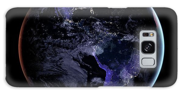 Earth From Space Galaxy Case - Americas At Night by Nasa Earth Observatory/joshua Stevens/miguel Roman/gsfc/science Photo Library