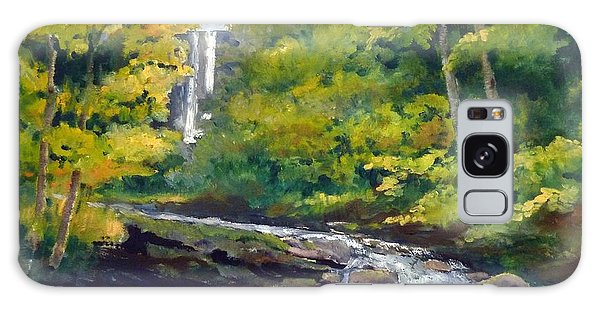 Amicalola Falls Painting Galaxy Case by Sally Simon