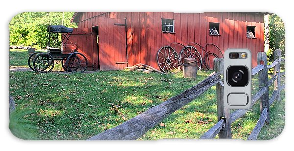 Amish Barn Along A Fenceline Galaxy Case