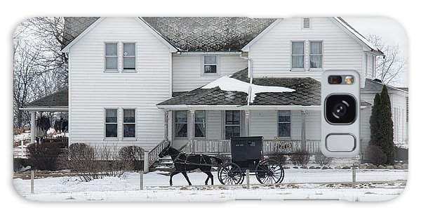 Amish Buggy And Amish House Galaxy Case