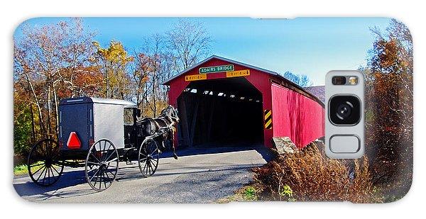 Amish Buggy Crossing Galaxy Case