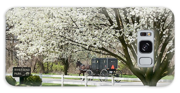 Amish Buggy Fowering Tree Galaxy Case