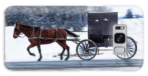 Amish Buggy In Winter Galaxy Case