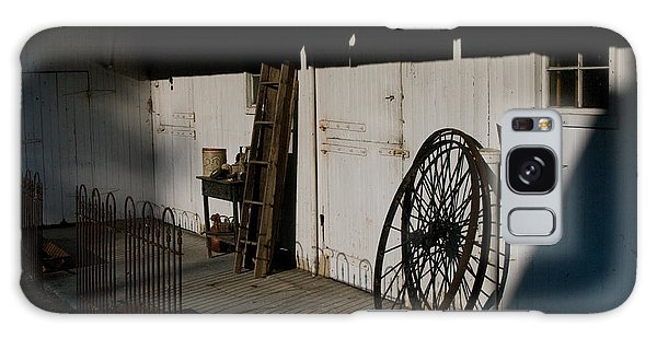 Amish Buggy Wheel Galaxy Case by Greg Graham