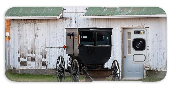 Amish Buggy White Barn Galaxy Case