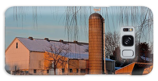 Amish Farm At Turquoise Dusk Galaxy Case