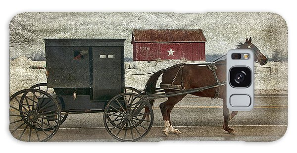 Amish Horse And Buggy And The Star Barn Galaxy Case