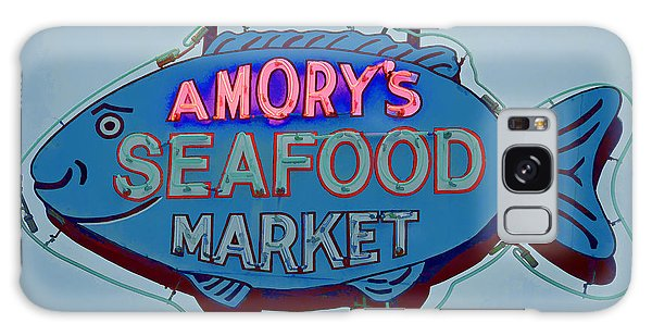 Amory Seafood Sign Galaxy Case