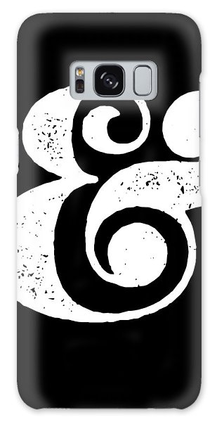 Galaxy Case - Ampersand Poster Black by Naxart Studio