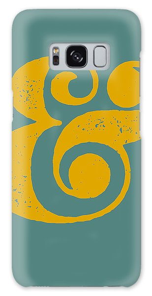 Sport Art Galaxy Case - Ampersand Poster Blue And Yellow by Naxart Studio