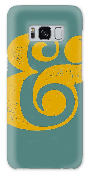 Motivational Galaxy Case - Ampersand Poster Blue And Yellow by Naxart Studio