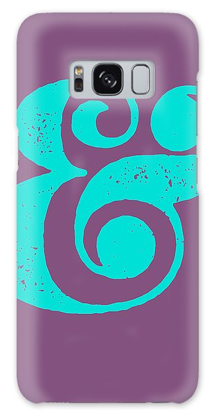 Sport Art Galaxy Case - Ampersand Poster Purple And Blue by Naxart Studio