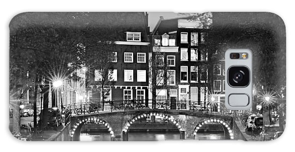 Galaxy Case featuring the photograph Amsterdam Bridge At Night / Amsterdam by Barry O Carroll