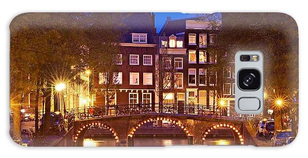Amsterdam Bridge At Night Galaxy Case