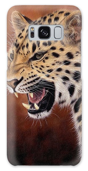 Amur Leopard Painting Galaxy Case