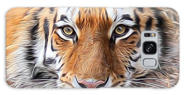 Amur Tiger Portrait Galaxy Case by Diane Alexander