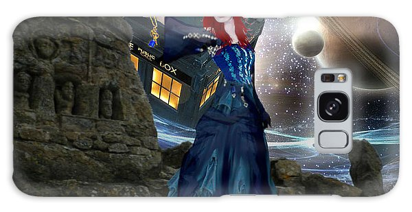 Amy And The Tardis Galaxy Case by Digital Art Cafe
