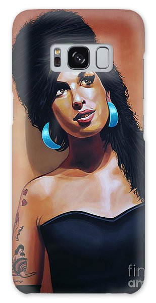 Rhythm And Blues Galaxy Case - Amy Winehouse by Paul Meijering