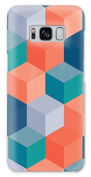 Art Deco Galaxy S8 Case - An Abstract Geometric Vector Background by Mike Taylor
