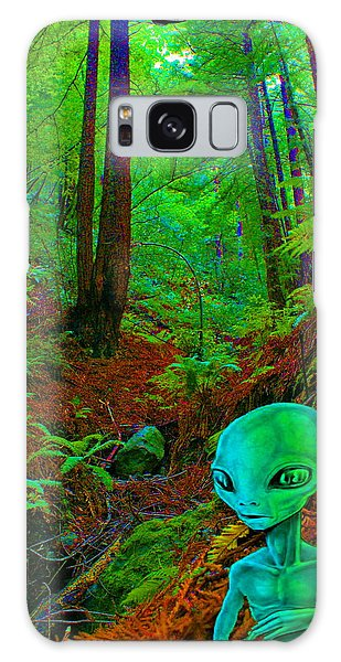 An Alien In A Cosmic Forest Of Time Galaxy Case