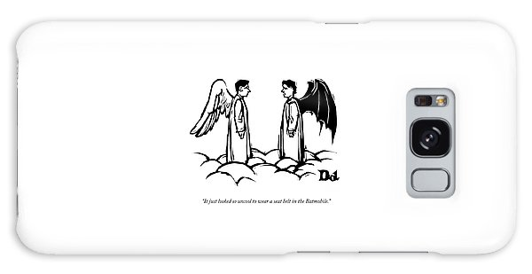 An Angel With Bat Wings Speaks To An Angel Galaxy Case by Drew Dernavich
