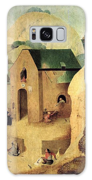 Alms Galaxy Case - An Antonian Priory Oil On Panel Reverse Of 28165 by Hieronymus Bosch