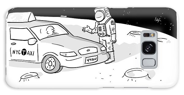 An Astronaut Says To A Taxi Cab On The Moon Galaxy Case