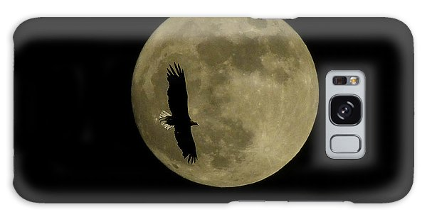 An Eagle And The Moon Galaxy Case by Mark Alan Perry