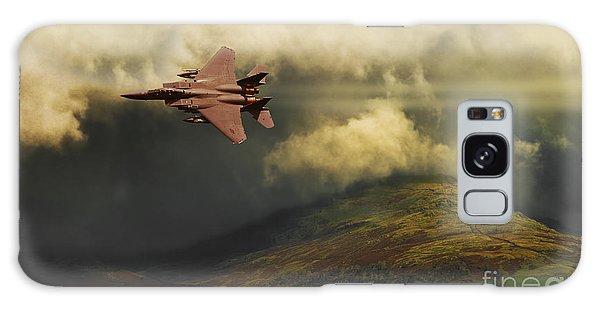 An Eagle Over Cumbria Galaxy Case by Meirion Matthias