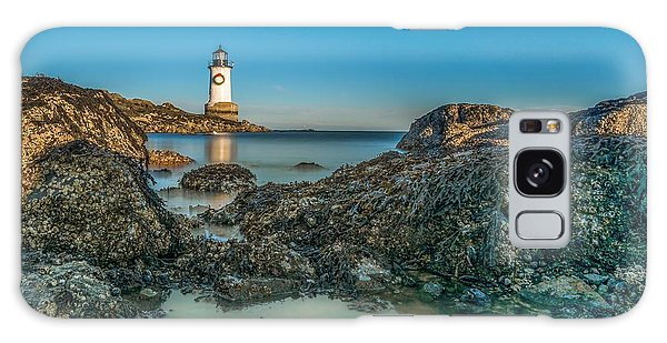 An Early Moon Over Fort Pickering Light Salem Ma Galaxy Case