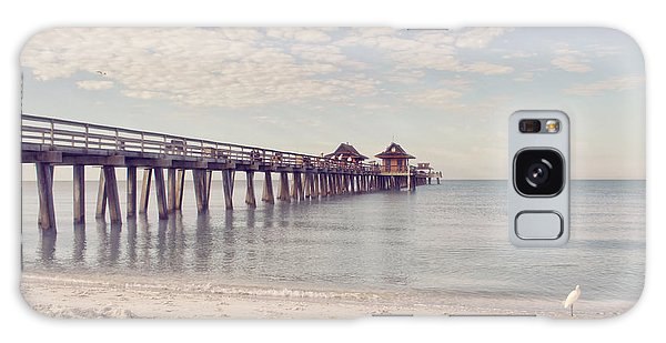 An Early Morning - Naples Pier Galaxy Case by Kim Hojnacki