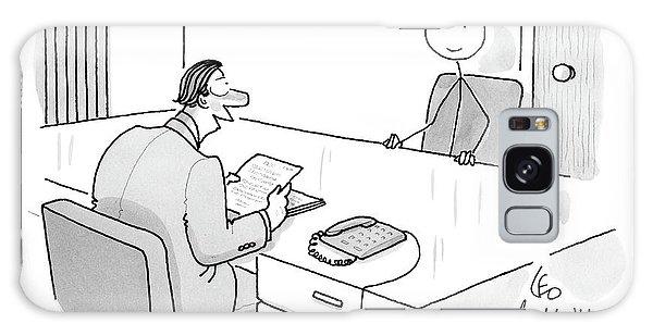 An Employer Interviews A Stick Figure Galaxy Case