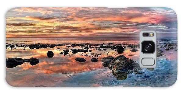An Evening At The Beach Galaxy Case