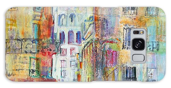 Abstract People Galaxy Case - An Evening Walk To Sacre Coeur by Sylvia Paul