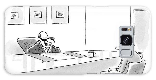 An Executive Behind A Desk Galaxy Case