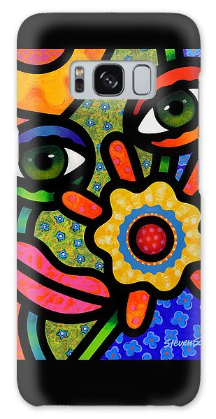 An Eye On Spring Galaxy Case