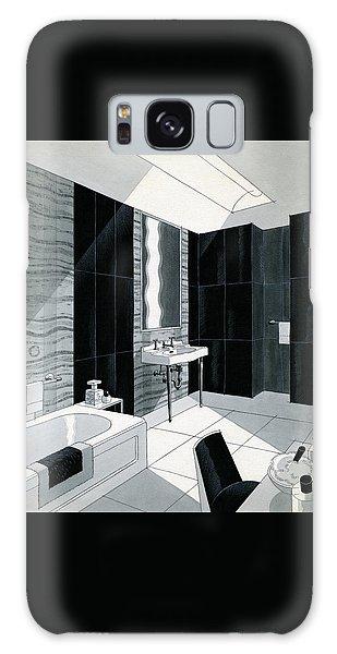 An Illustration Of A Bathroom Galaxy Case