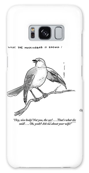 An Incendiary Mockingbird Is Depicted Galaxy Case