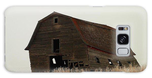 An Old Leaning Barn In North Dakota Galaxy Case