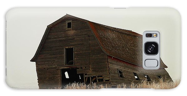 An Old Leaning Barn In North Dakota Galaxy Case by Jeff Swan