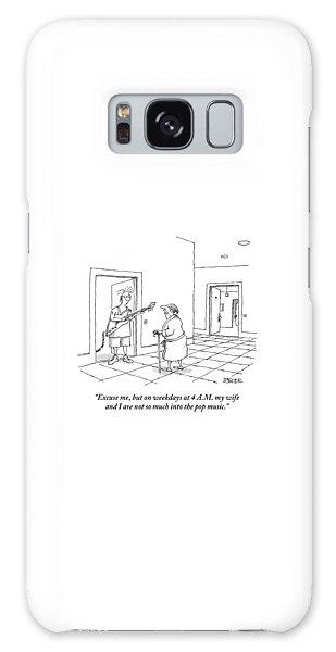 An Old Man In A Bathrobe Addresses A Young Man Galaxy Case