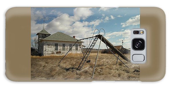 An Old School Near Miles City Montana Galaxy Case by Jeff Swan