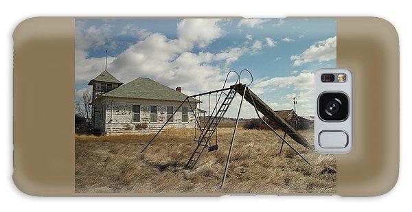 An Old School Near Miles City Montana Galaxy Case